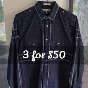 EXPRESS men's button down shirt long sleeve
